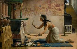 Подношение кошкам в Египте